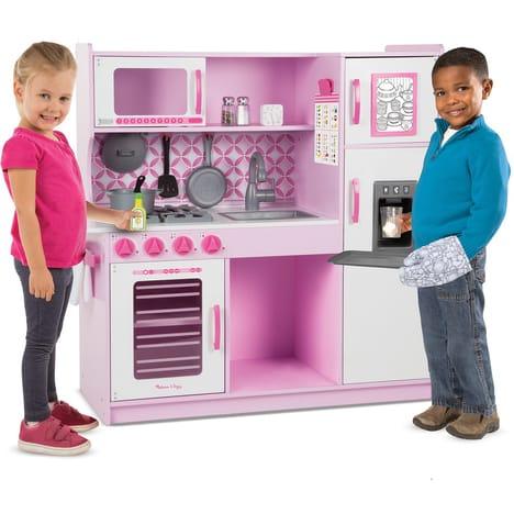 Jeu imitation Melissa & Doug - Cuisine de chef en bois (rose)