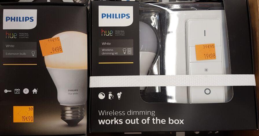Sélection de produits Philips Hue à 50% de réduction - Ex : Ampoule White E27 à 9.98€ (Echirolles 38)