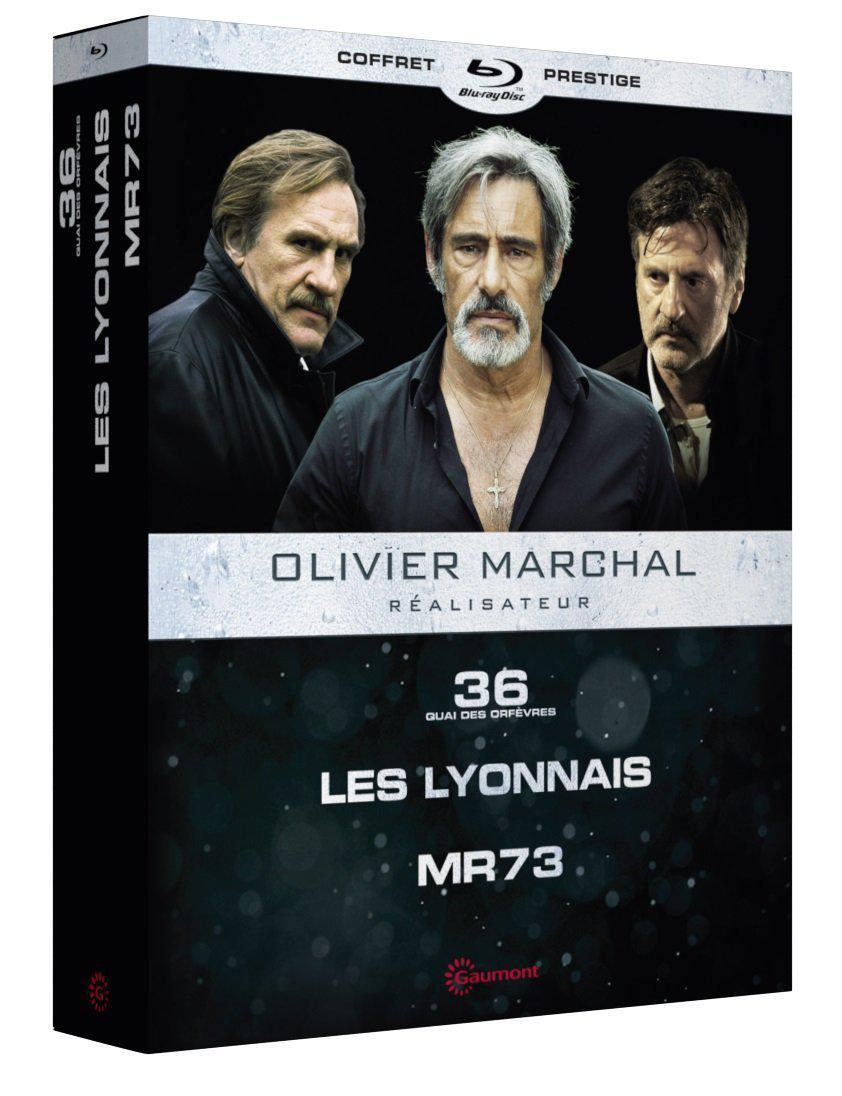 Coffret Blu-Ray Olivier Marchal : 36 Quai des Orfèvres + Les Lyonnais + MR 73 Édition Prestige Steelbook