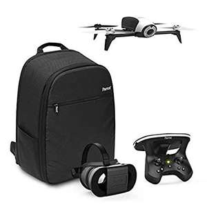 Drone Quadricoptère Parrot Bebop 2 + Lunette FPV + Skycontroller 2 - Blanc + Sac à Dos + Follow-me  (Occasion : Excellent état)