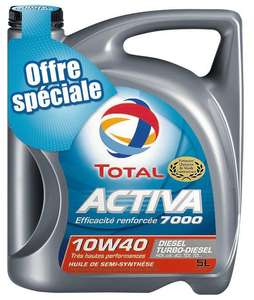 Huile Total 10W40 - 5 litres (via 9.16€ carte Waaoh + BDR)