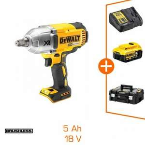 "Boulonneuse DeWalt DCF899HP1T 18V Brushless- 1/2"" - 950Nm - 1 bat Li-Ion 5Ah + chargeur + coffret TStak II"