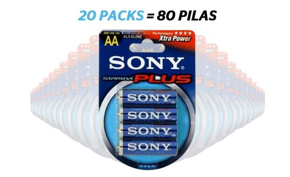 Lot de 80 piles LR06 AA Sony / Frais de port inclus