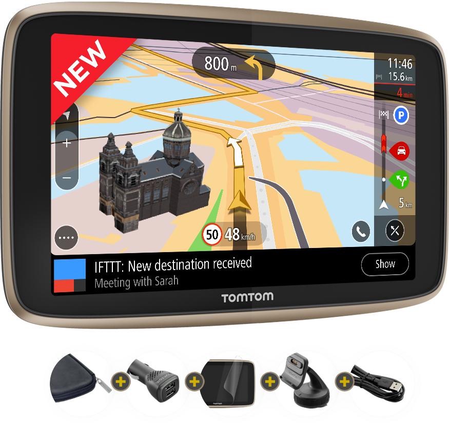 """GPS Tomtom Go Premium X 6"""" - MaJ illimité + carte SIM intégré pour le Traffic"""