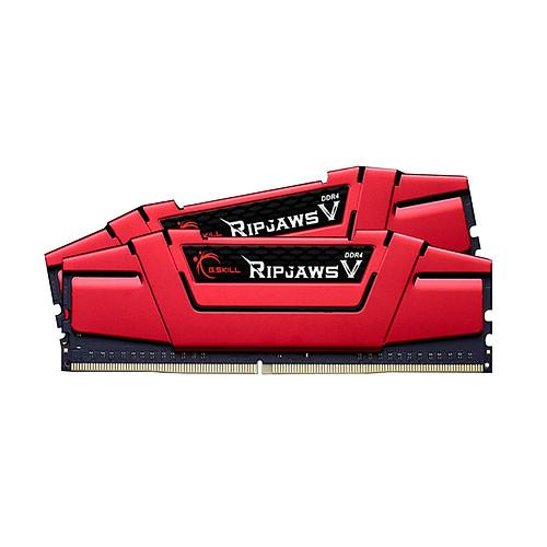 Kit mémoire G.Skill RipJaws 5 Series Rouge - 16 Go (2x8 Go) DDR4, 3600 MHz, CL19 (84,58€ avec le code KING)