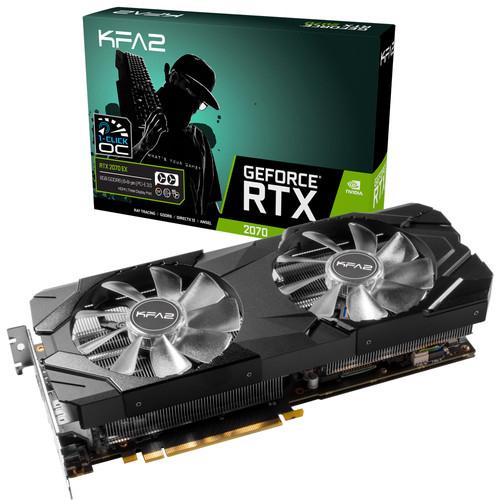 Carte graphique KFA2 GeForce RTX 2070 EX (1-Click OC) v2 - 8 Go + jeu offert