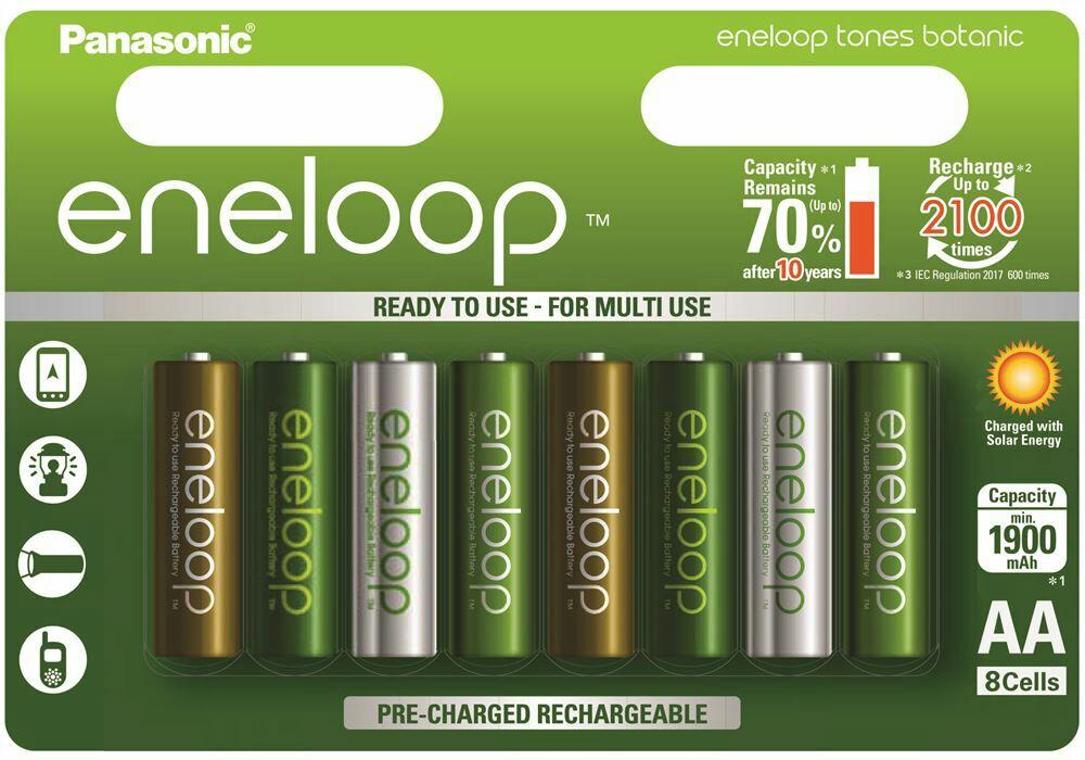 Piles rechargeables Panasonic Eneloop Botanic Limited Edition AA - 1900 mAh
