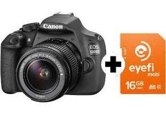 Appareil photo Reflex Canon Eos 1200D avec objectif kit Canon 18-55 IS + carte SD Eyefi Wifi 16 Go