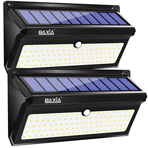 Lot de 2 Lampes Solaires d'Exterieur Baixa avec 100LED - 2400mAh (Via Coupon - Vendeur Tiers)