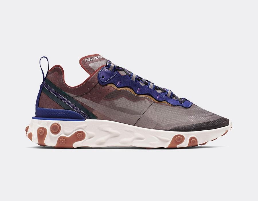 Paire de chaussues Nike React element 87 Dusty Peach - Taille 43 ou 44 (snkrs.com)