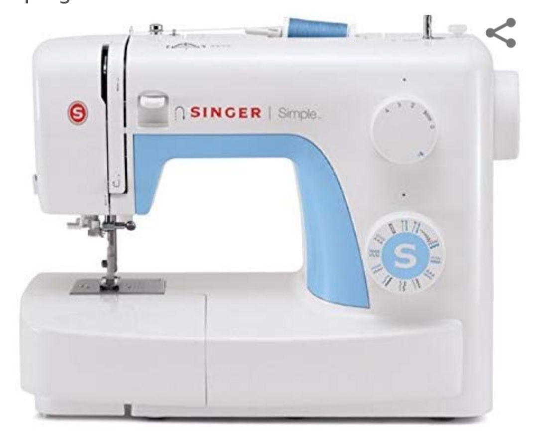 Machine à coudre 21 programmes Singer MC Simple 3221 - Blanche / Bleue