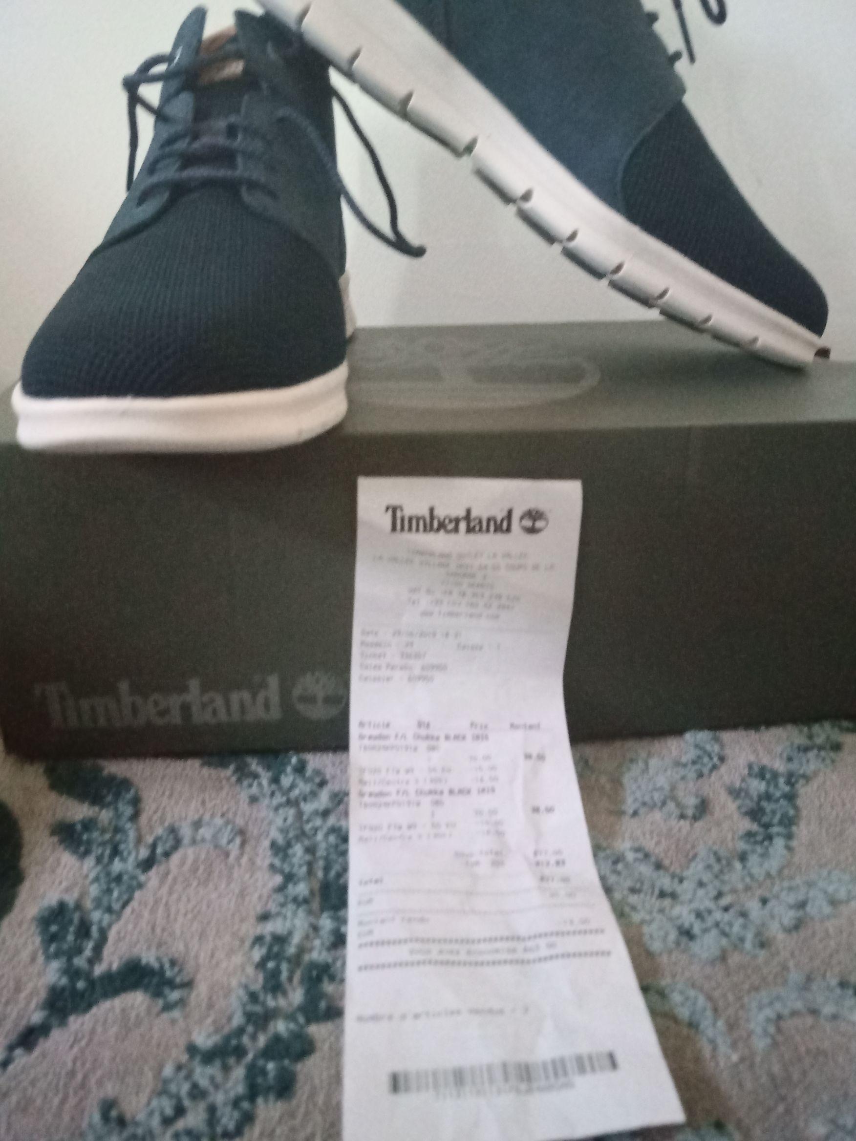 Sélection de produits en Soldes - Ex: Chaussures Timberland Chukka Black pour Hommes (Tailles au choix) - Serris La Vallée Village (77)