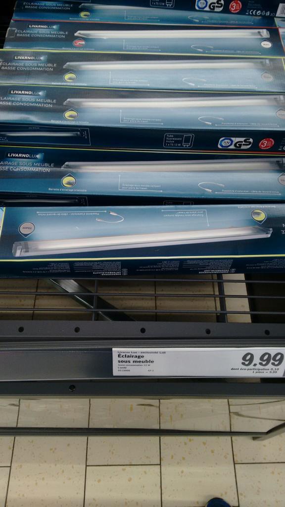 Eclairage néon Livarnolux (rampe orientable) - T5, 13W