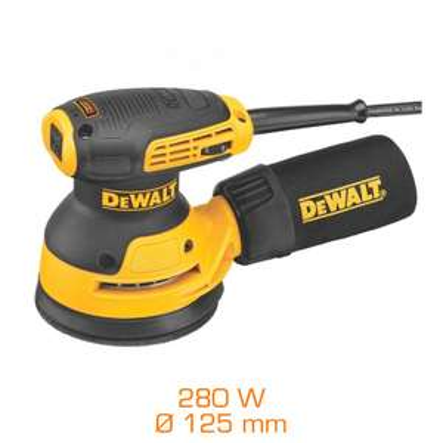Ponceuse excentrique rotative Dewalt DWE6423 - 280W, Ø 125 mm
