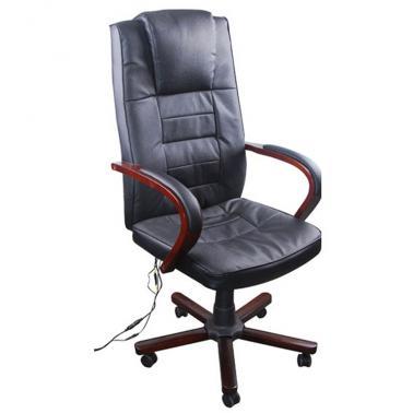Sélection de fauteuils de bureau en promotion - Ex : Fauteuil de bureau massant en cuir mélangé