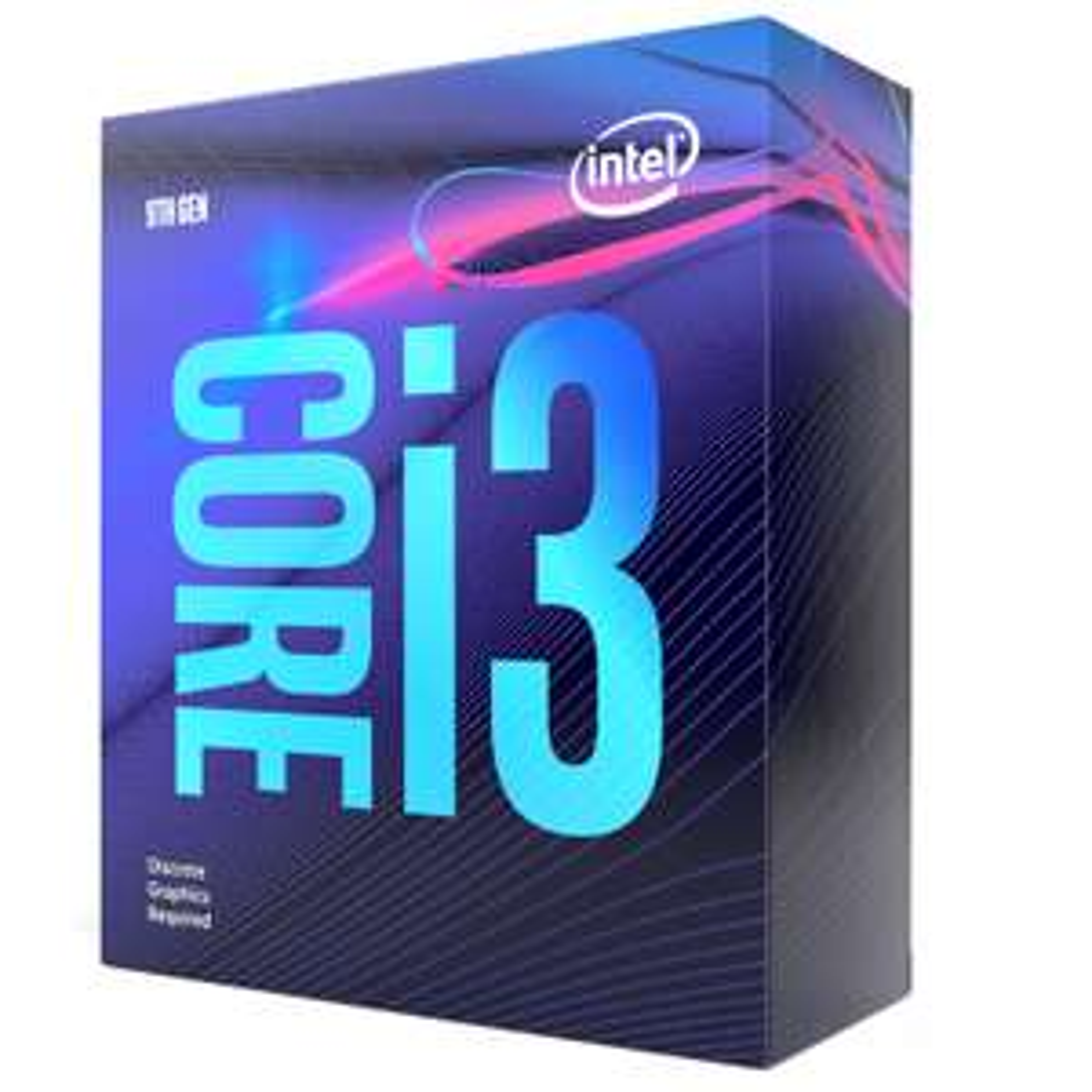 Processeur Intel Core i3 9100F - 4 cœurs, 3.6-4.2Ghz