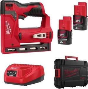 Agrafeuse sans fil Milwaukee M12 BST-202X -12V, 2 batteries 2.0Ah, HD-Box (TooManyTools.com)