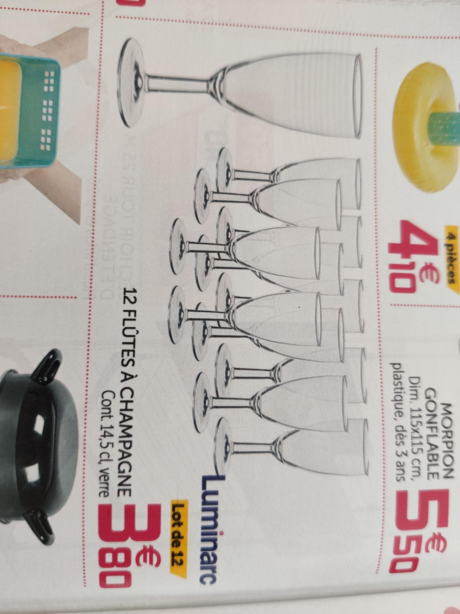 12 flûtes à champagne Luminarc - 14,5Cl