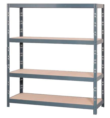 Étagère rack charges lourdes - 4 tablettes, 185,3 x 160 x 50 cm