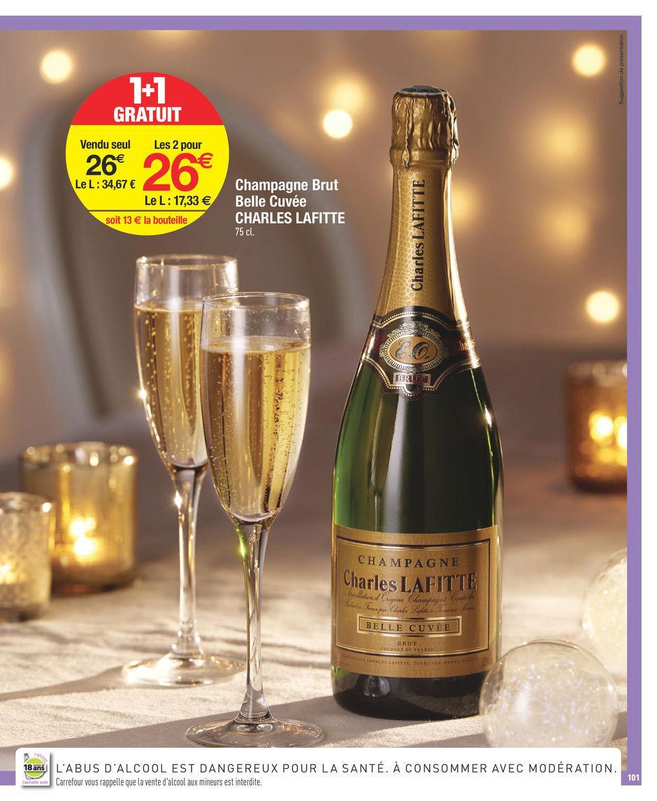 Lot de 2 Bouteilles  de Champagne Charles Lafitte - Belle Cuvée