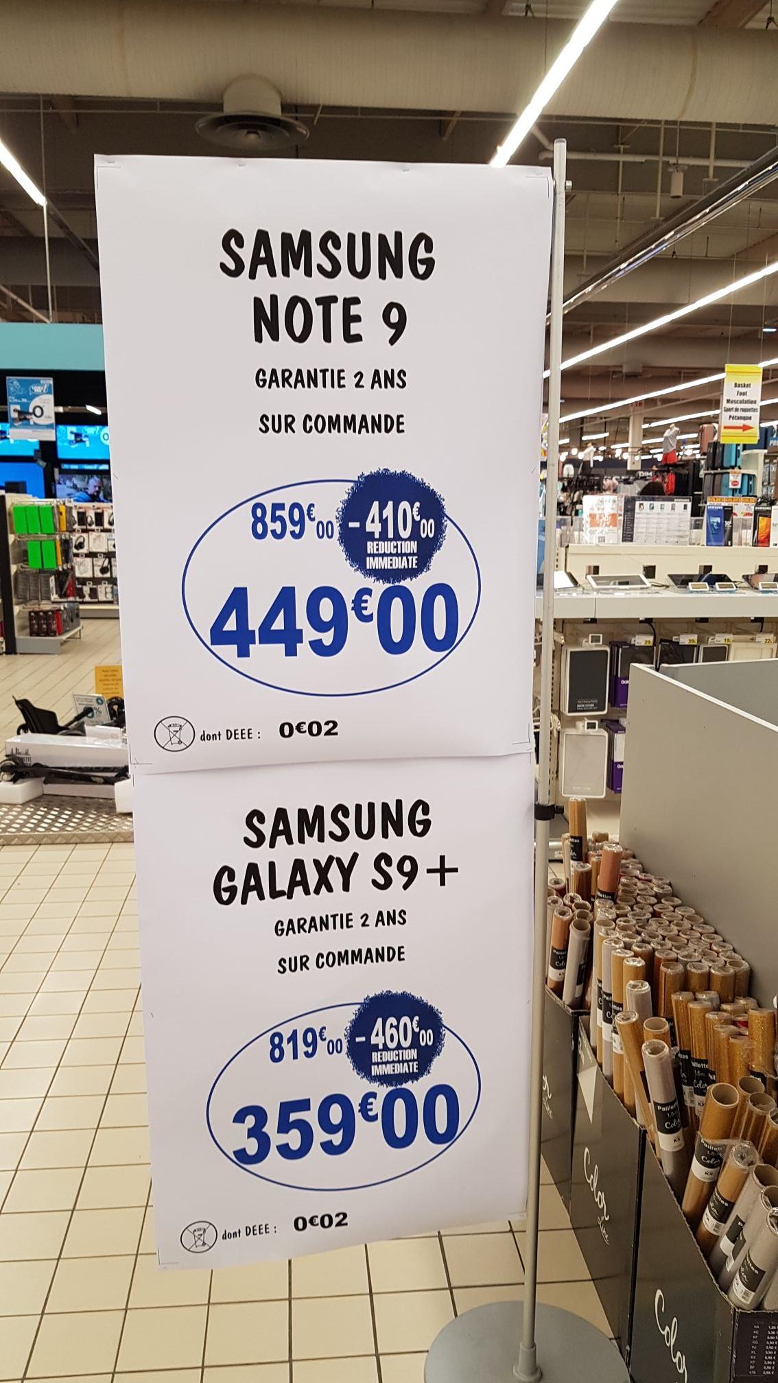 "Sélection de smartphones Samsung en promotion - Ex : 6.4"" Galaxy Note 9 (WQHD+, Exynos 9810, 6Go RAM, 128Go) - Saint-Orens-de-Gameville (31)"