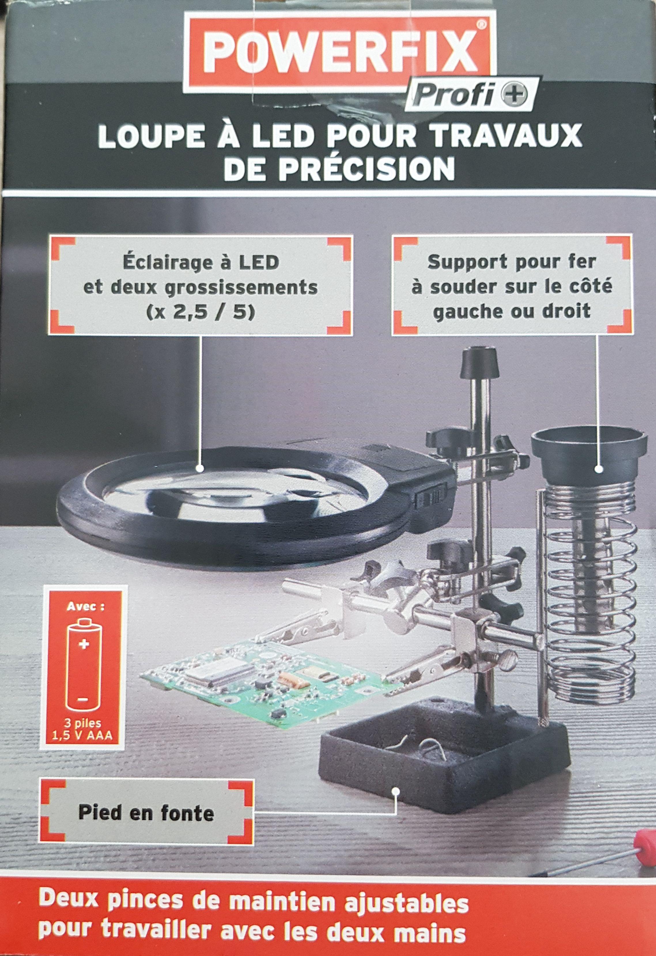 Loupe à LED Powerfix pour travaux de précision - Créteil (94)