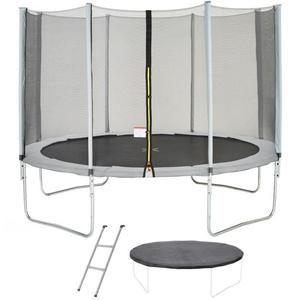 Trampoline Maxi Eco (360 cm) - avec couverture de protection, échelle et filet