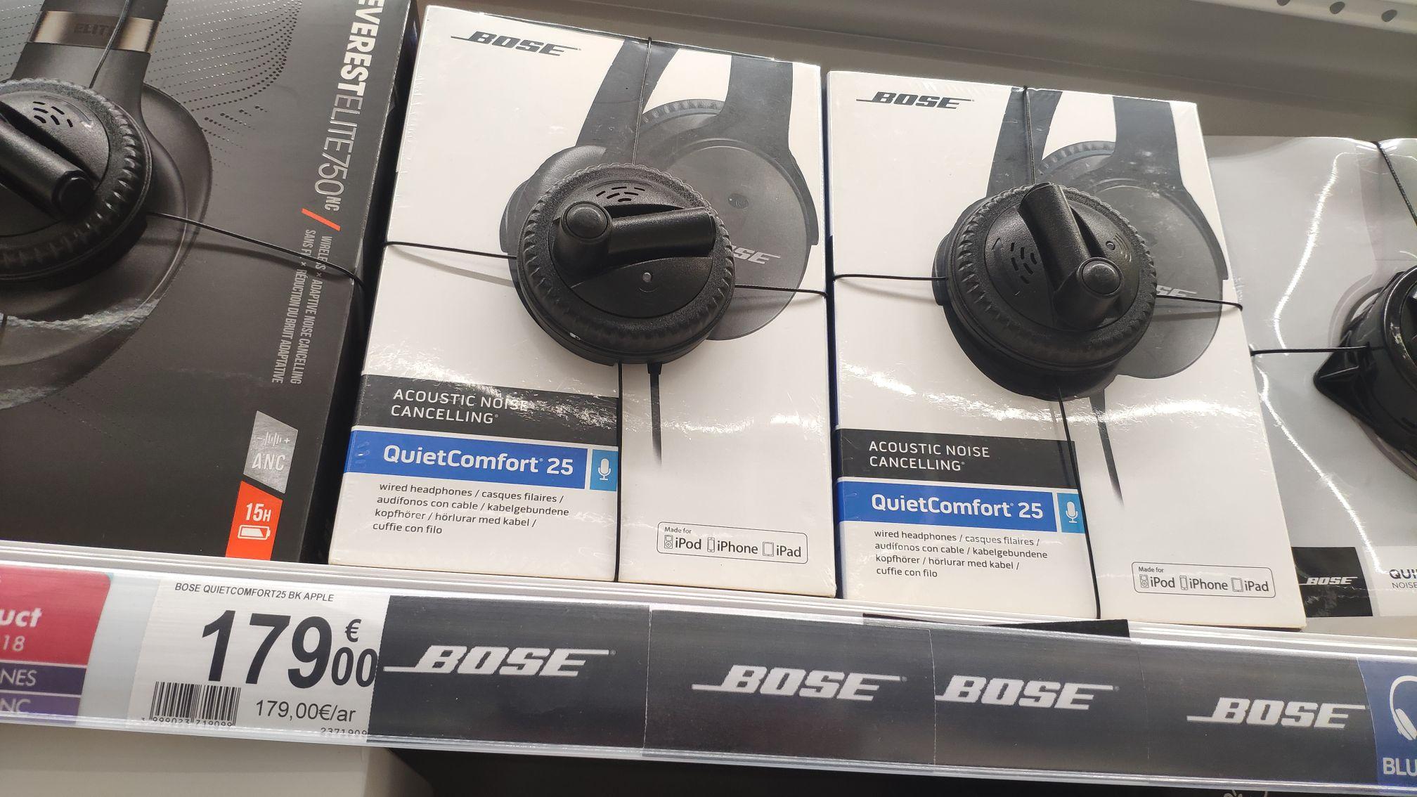 Casque audio Bose QuietComfort 25 Apple (noir) - Kirchberg (frontaliers Luxembourg)
