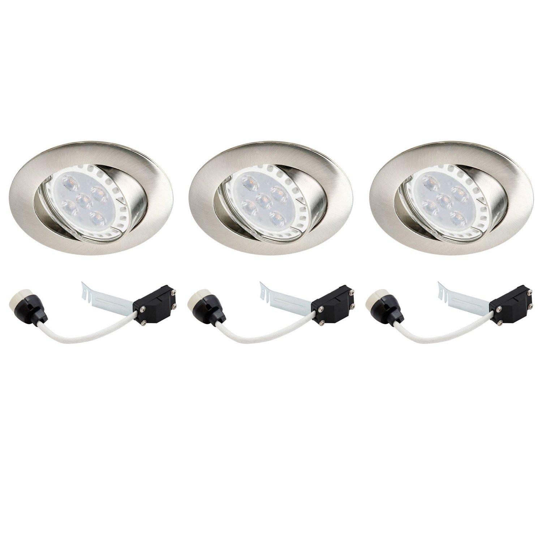 Kit 3 spots à encastrer LED orientable