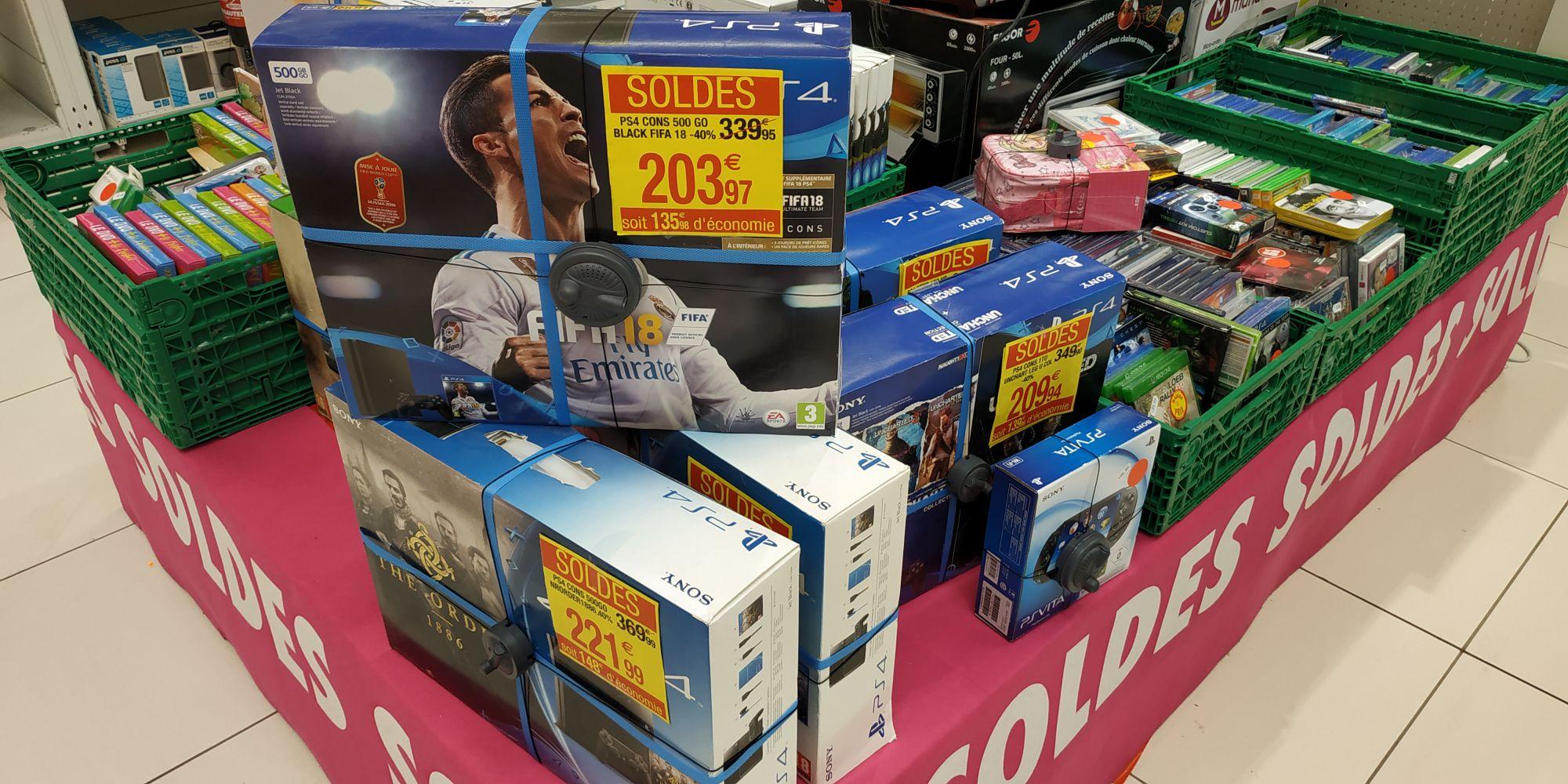 Sélection de consoles en promotion - Pack PS4 Slim (500 Go) + Fifa 18 - Beauvais (60)