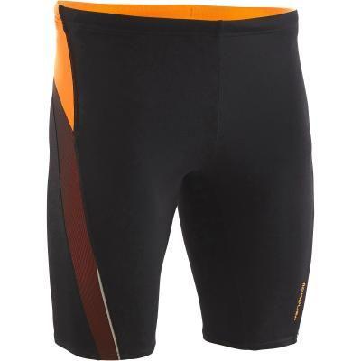 Maillot de bain Natation Homme Jammer 500 First - Noir  / Orange