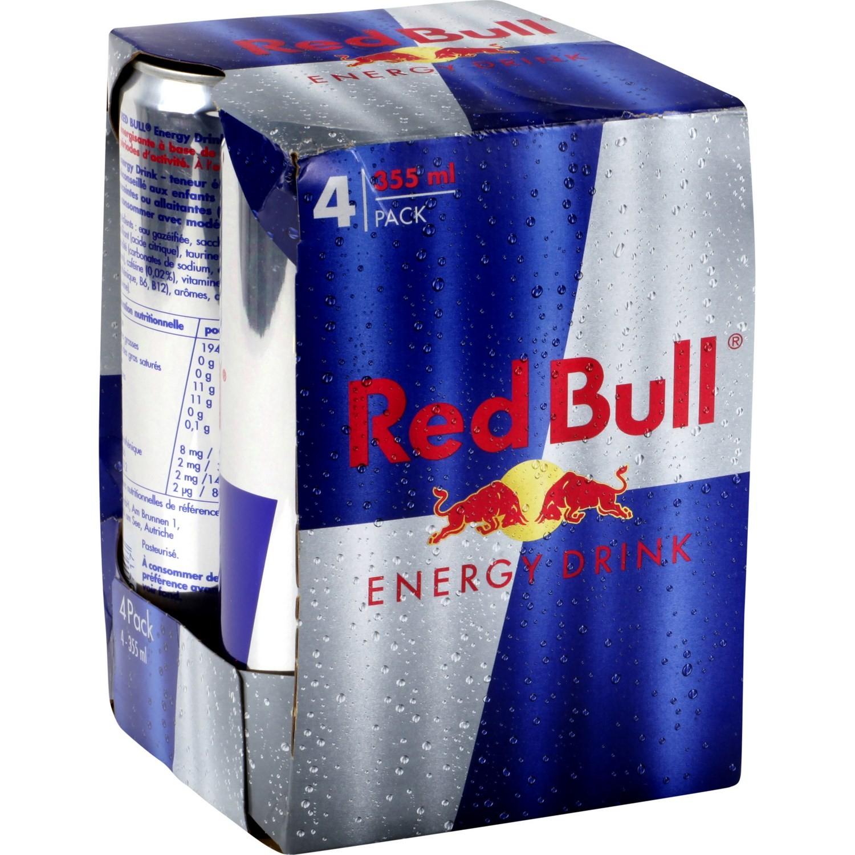 1 Pack de 4 Boissons énergisantes Red Bull - Intermarché drive