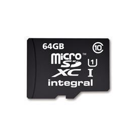 Carte microSDXC Integral UltimaPro Classe 10 (UHS-I 90 Mo/s) - 64 Go avec adaptateur