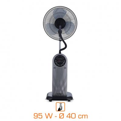 Ventilateur Brumisateur Techwood TVB-4093 - 40cm, 95w, 3 Vitesses