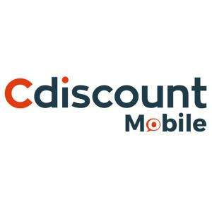 Forfait mensuel Cdiscount Mobile : Appels/SMS/MMS illimités + 100 Go France en 4G & 5 Go UE/DOM 3G+ (Sans engagement - Pendant 12 mois)