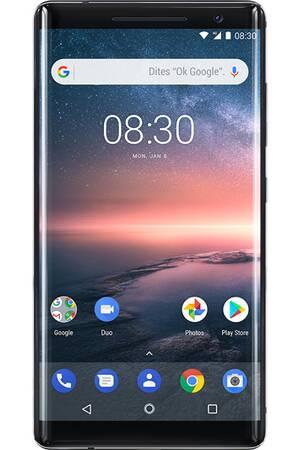 """Smartphone 5.5"""" Nokia 8 Sirocco - QHD, 128Go de ROM, Snapdragon 835, 6Go de RAM"""