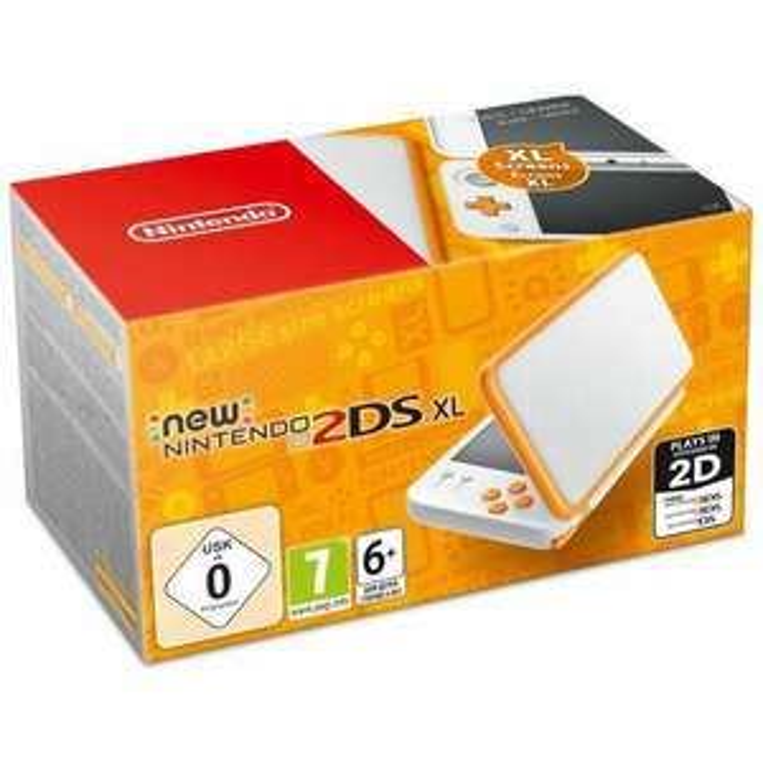 Console portable New Nintendo 2DS XL - Blanc & Orange