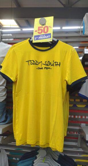 Lot de 2x T-shirt Teddy Smith - Tailles et coloris différents