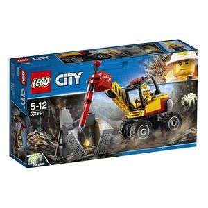 Jouet Lego City - L'excavatrice avec marteau-piqueur (60185)