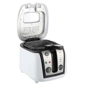 Friteuse électrique Continental Edison FR25T - 1800 W, blanc