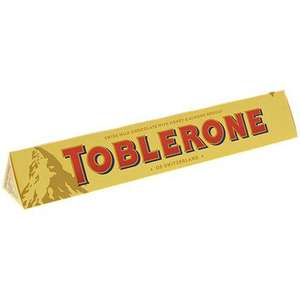 1 Barre de Chocolat Toblerone - 100 g (différentes variétés)