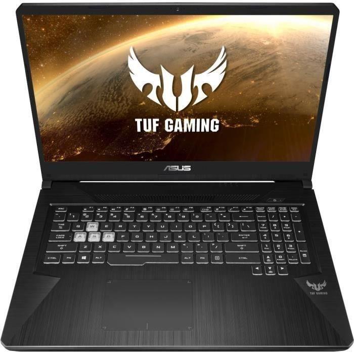 "PC Portable 17.3"" Asus TUF765GE-EV157 - FHD 144Hz, i5-8300H; RAM 8Go, 1To + SSD 256Go, GTX 1050 Ti 4Go, Sans OS"