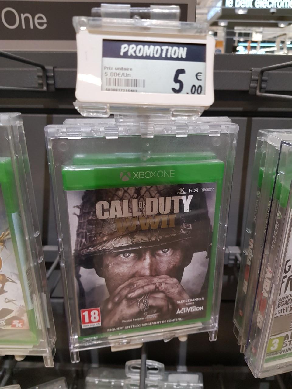 Sélection de jeux en soldes - Ex : Jeu Call Of Duty WW2 sur PS4 ou Xbox One, Leclerc Saint Médard (33)