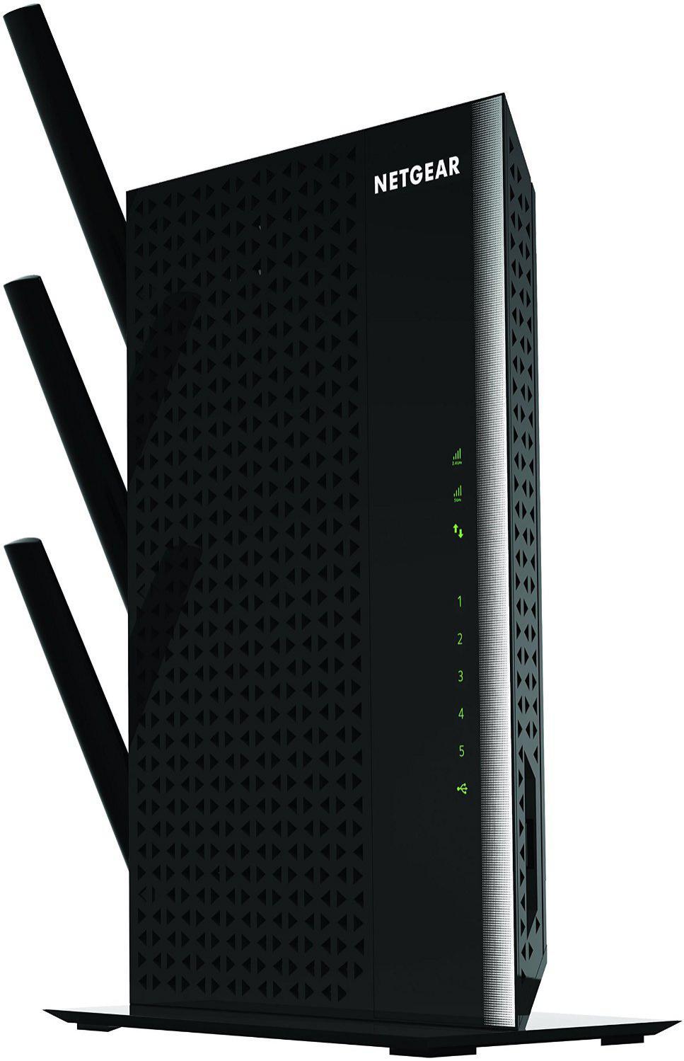 Répéteur Wi-Fi Netgear Nighthawk AC1900 EX7000-100PES - 5 ports Gigabit Dual Band Noir