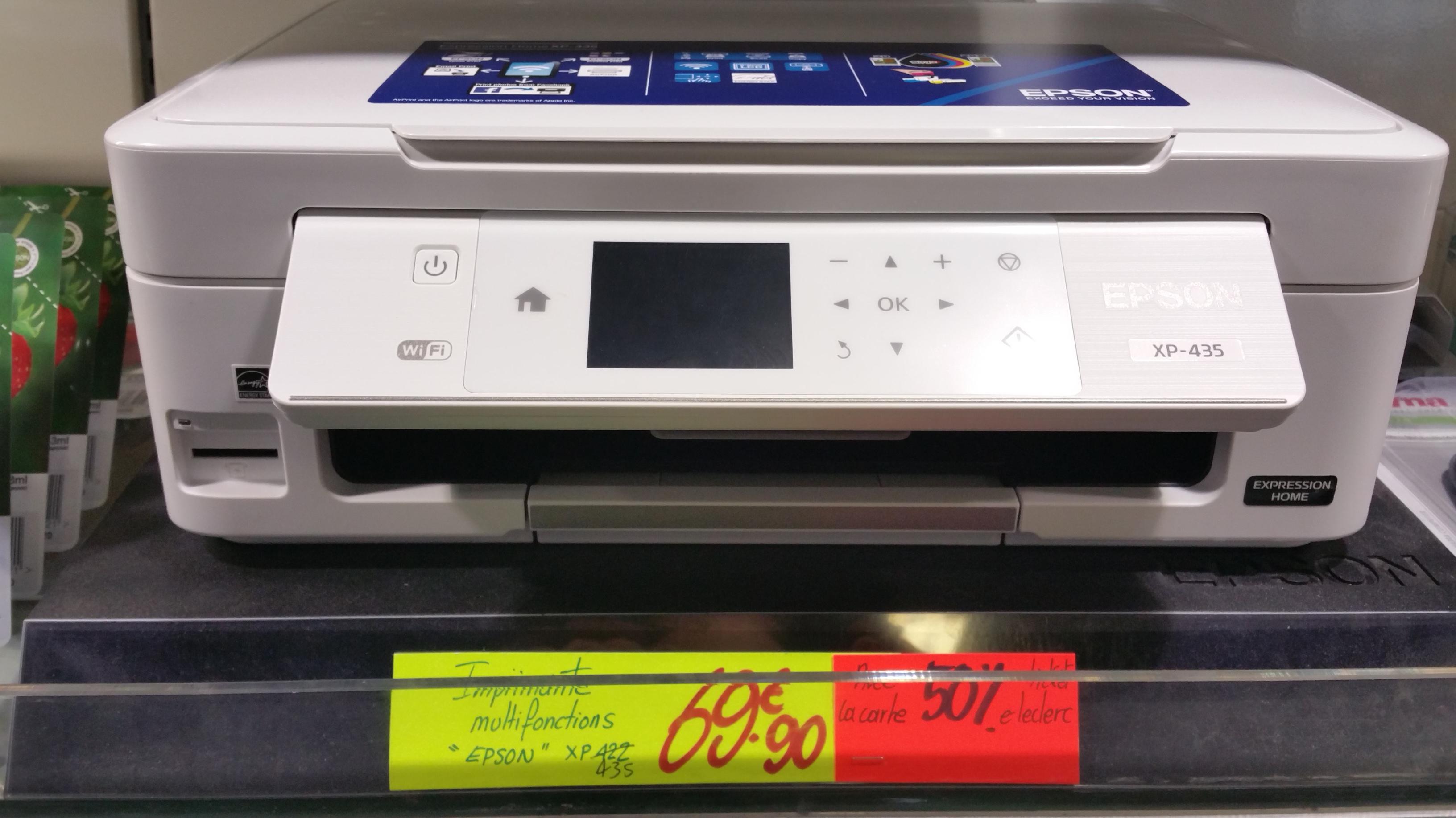 Imprimante multifonction Epson XP-435 à (via 34.95€ sur la carte)