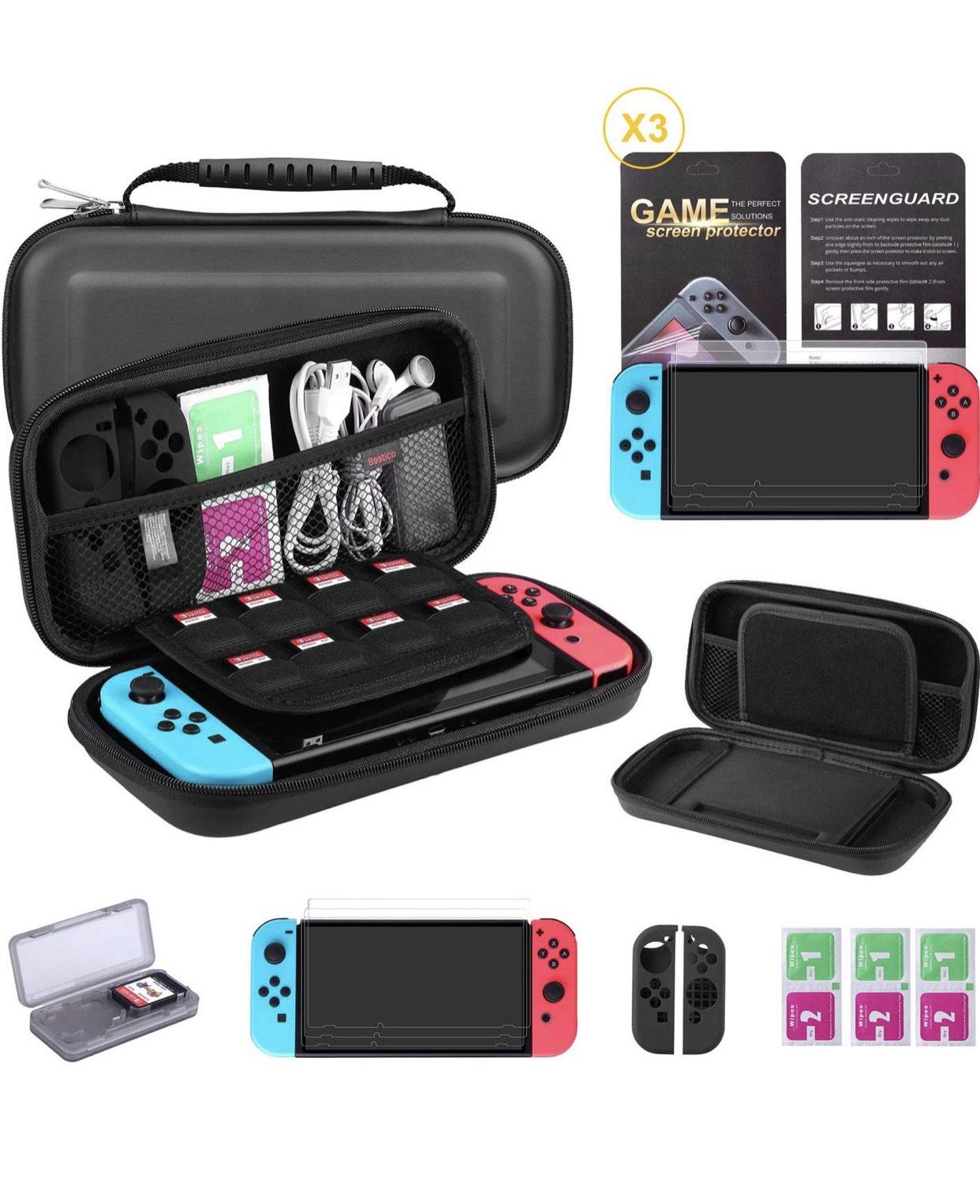 Kit de protection 7 en 1 Bestico pour Nintendo Switch (vendeur tiers)