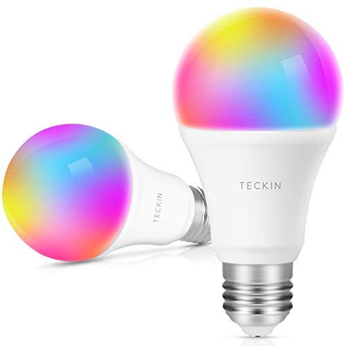 Lot de 2 ampoules LED conneectées Teckin - E27, RGB (vendeur tiers)