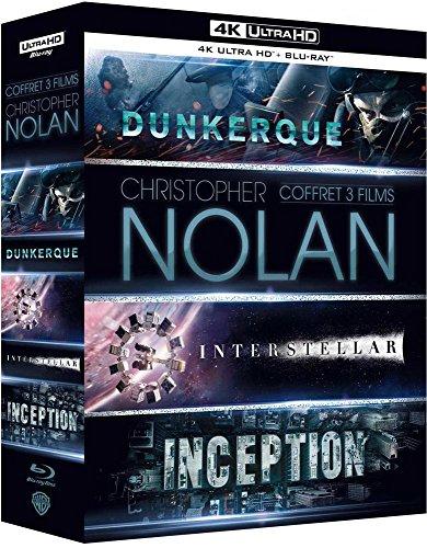 Coffret Christopher Nolan Blu Ray 4K : Interstellar, Inception, Dunkerque