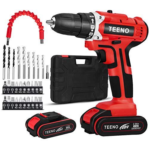 Perceuse Visseuse sans-fil TEENO - 20V, 2 Batteries 2.0 Ah (Vendeur Tiers)