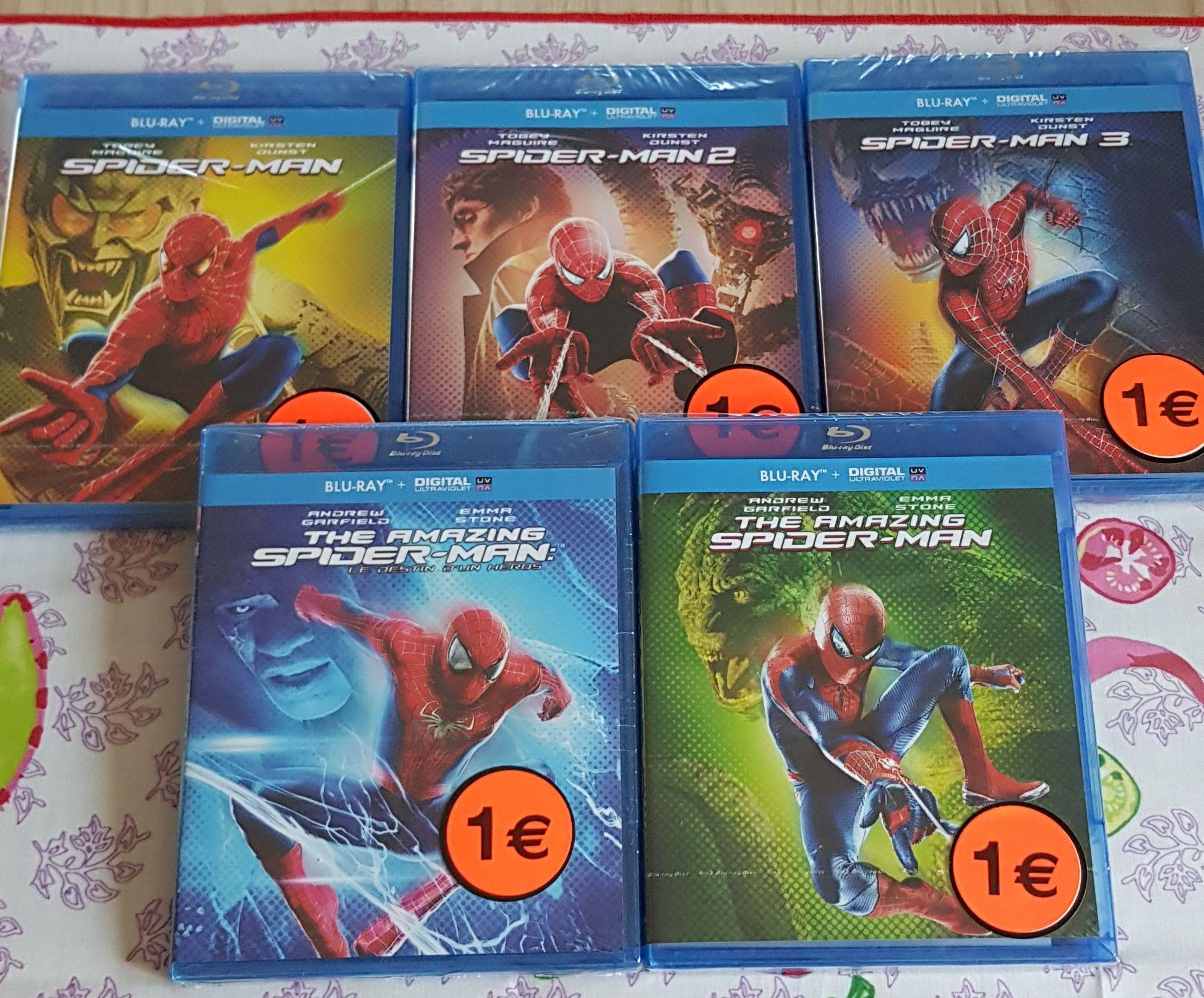 Sélection de Blu-ray Spider-man à 1€ - Schweighouse-sur-Moder (67)